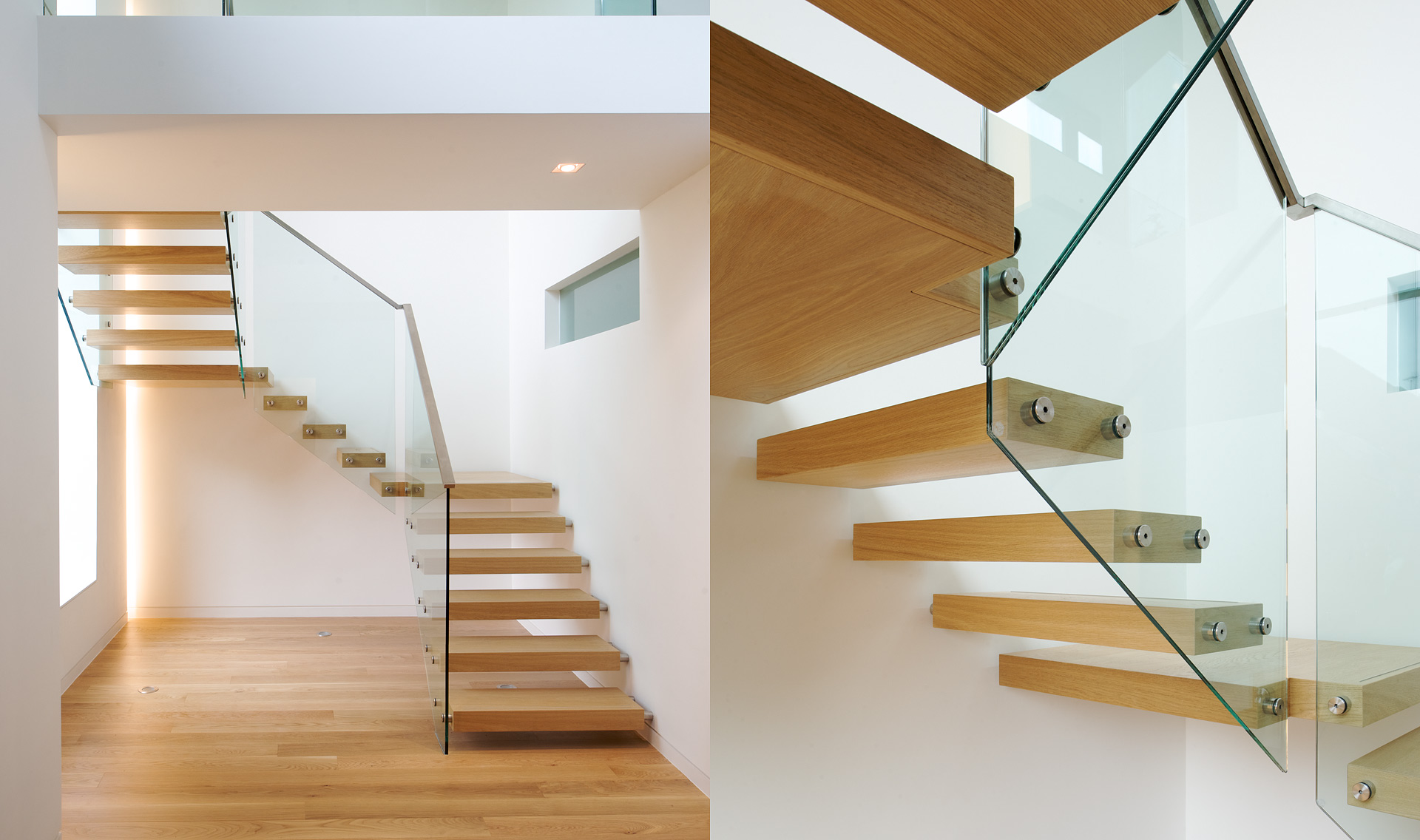 Stairs Floating Oak Tread Tintab Contemporary Bespoke Design Manufacturing In Newhaven East Sus