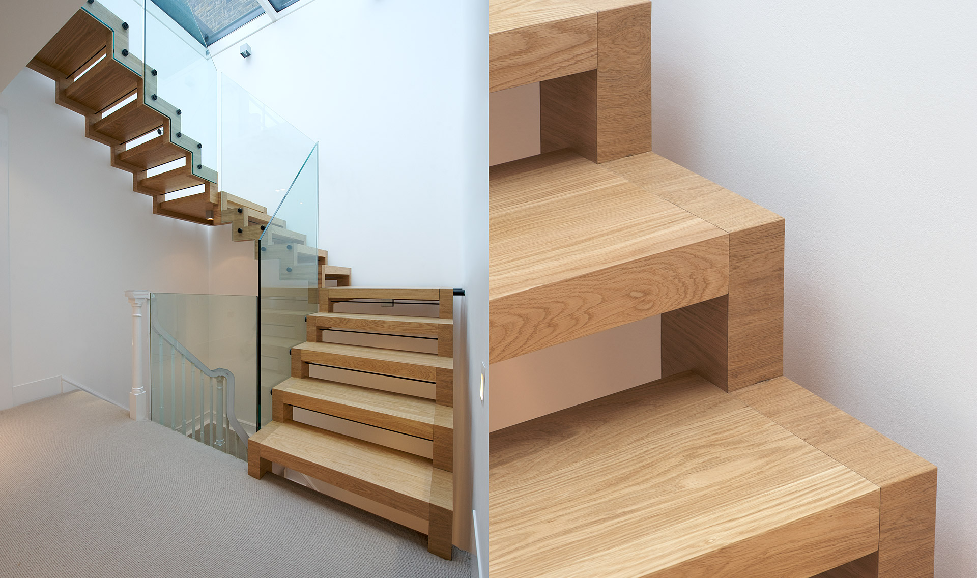 Stairs Floating Tread Skeletal Tintab Contemporary Bespoke Design Manufacturing In Newhaven East Sus